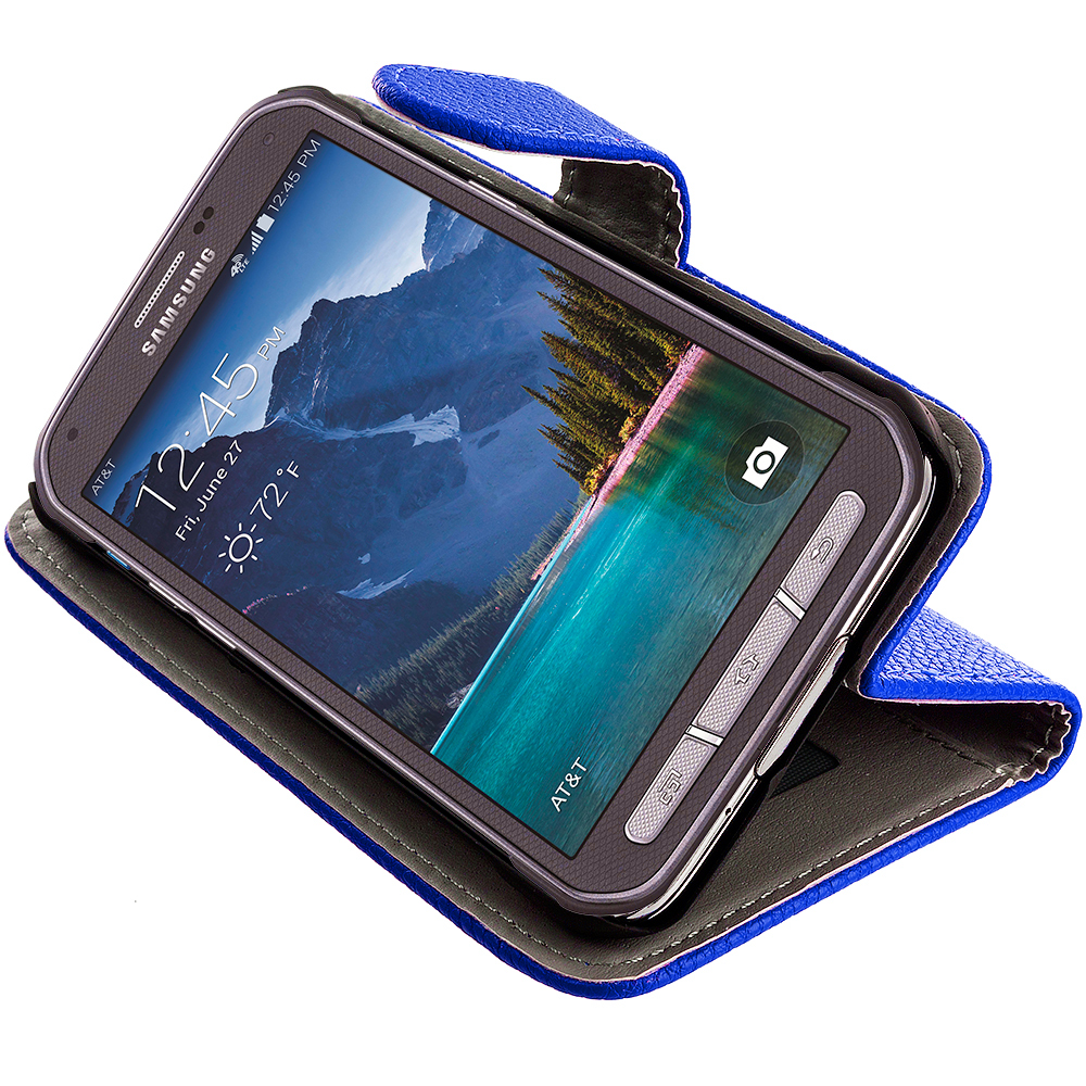For Samsung Galaxy S5 Active Wallet Flip Pouch Case Cover ...