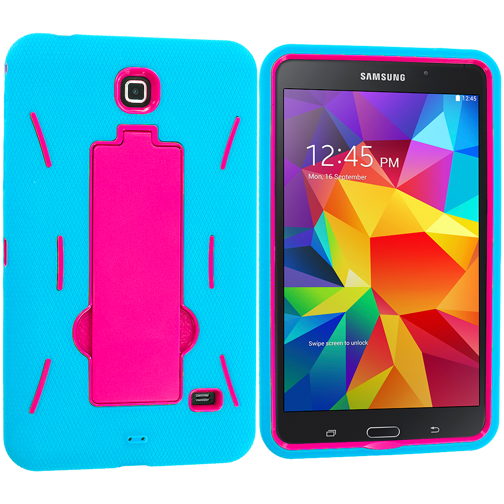timeless design 27adc 34d54 Details about Hybrid Rugged Stand Hard Case Cover for Samsung Galaxy Tab 4  8.0 8 Inch
