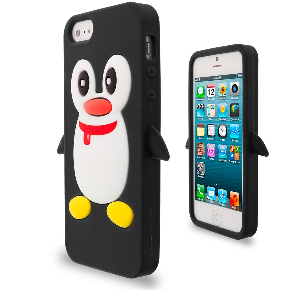 Penguin Cute Silicone Color Rubber Skin Case Cover for ...