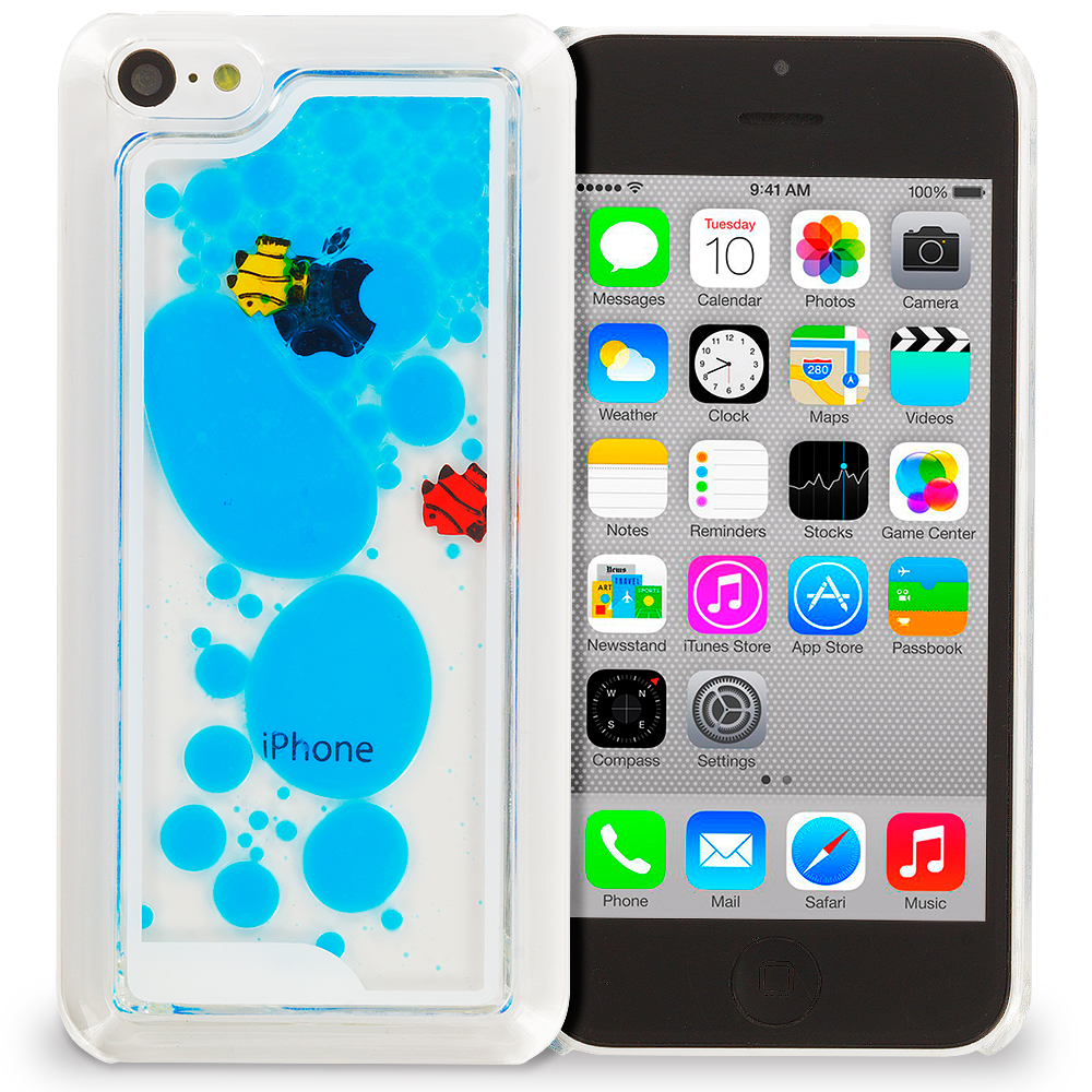 for apple iphone 5c 3d water fish tank cute liquid moving. Black Bedroom Furniture Sets. Home Design Ideas