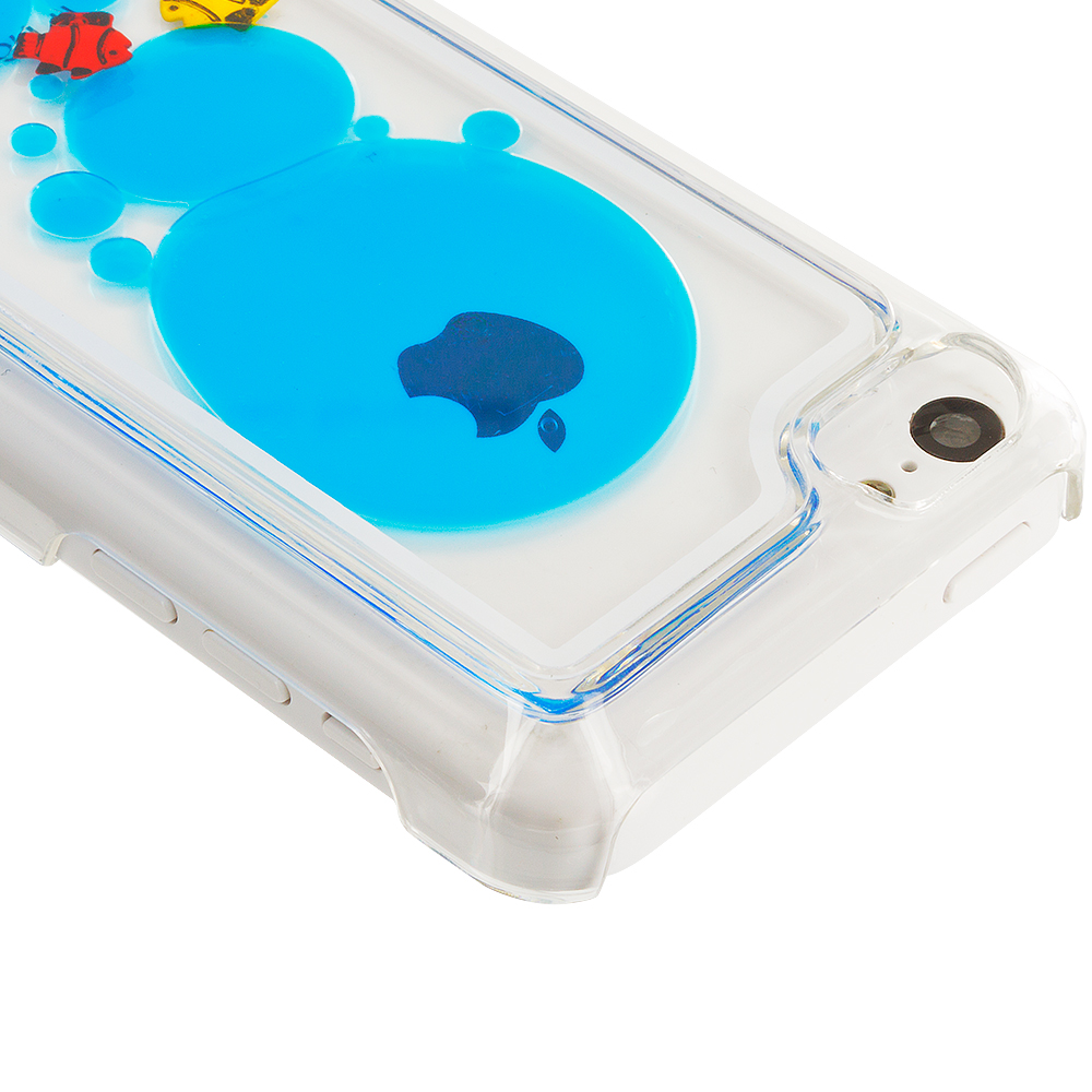 For Apple IPhone 5C 3D Water Fish Tank Cute Liquid Moving