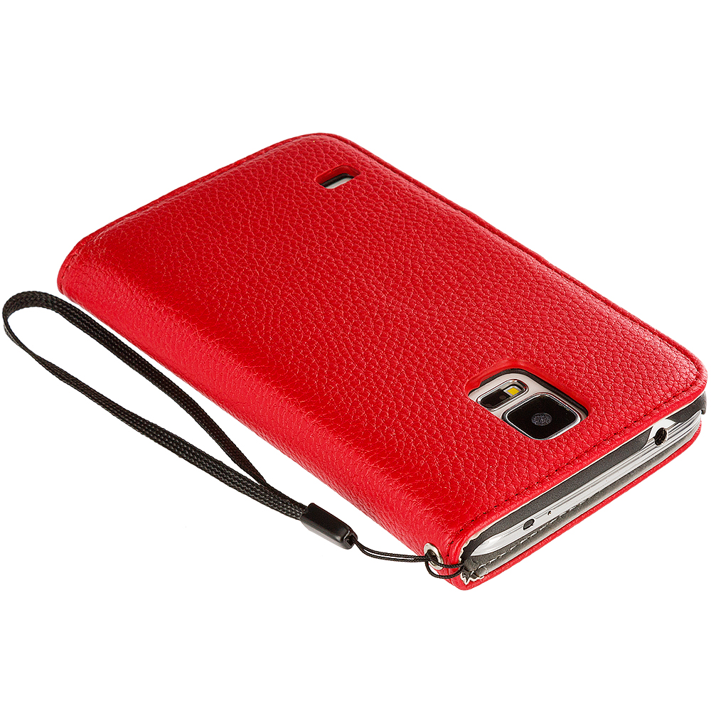 For Samsung Galaxy S5 Leather Wallet Leather Pouch Case