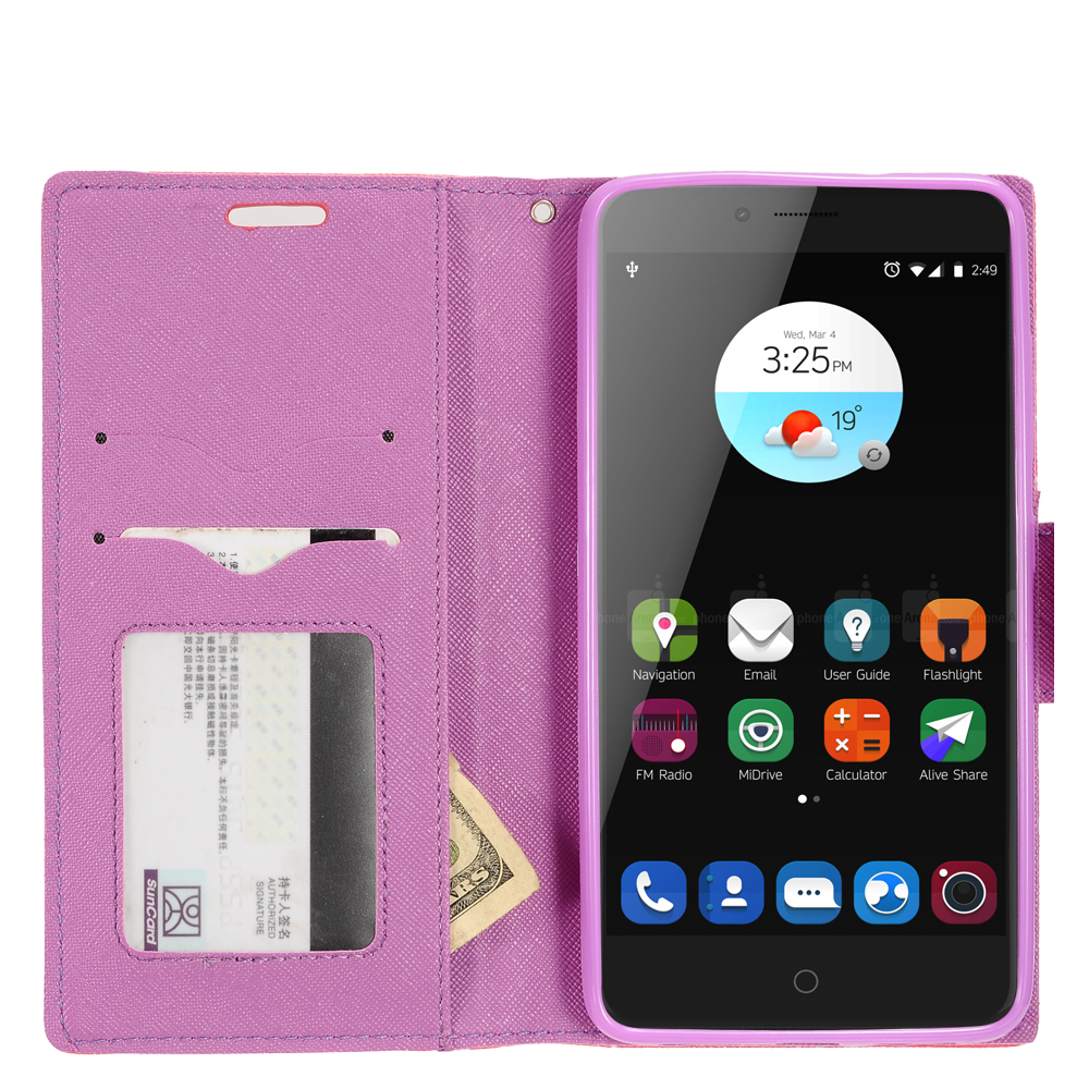 For ZTE Grand X Max 2 Kirk Zmax Pro Wallet Case Phone ...
