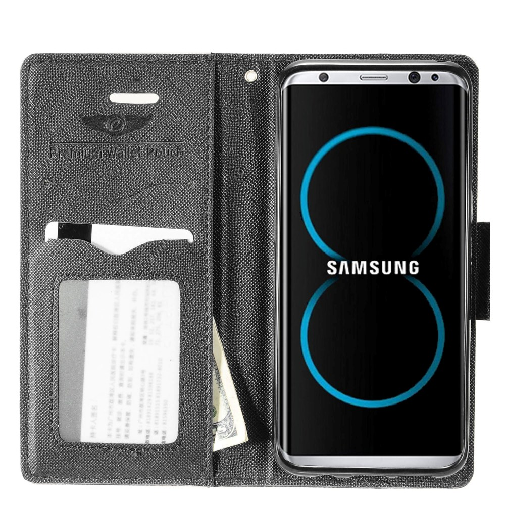 For Samsung Galaxy S8 Plus Wallet Flip Case Tpu With Card