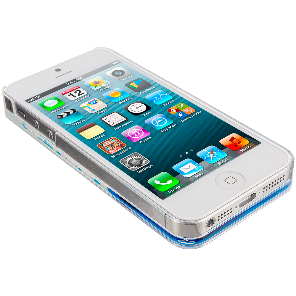 For Apple iPhone 5 5S 3D Water Fish Tank Cute Liquid Moving Case Cover Sea Blue | eBay