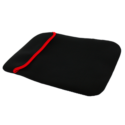 Black red neoprene sleeve laptop pouch cover case for for Housse neoprene ipad air