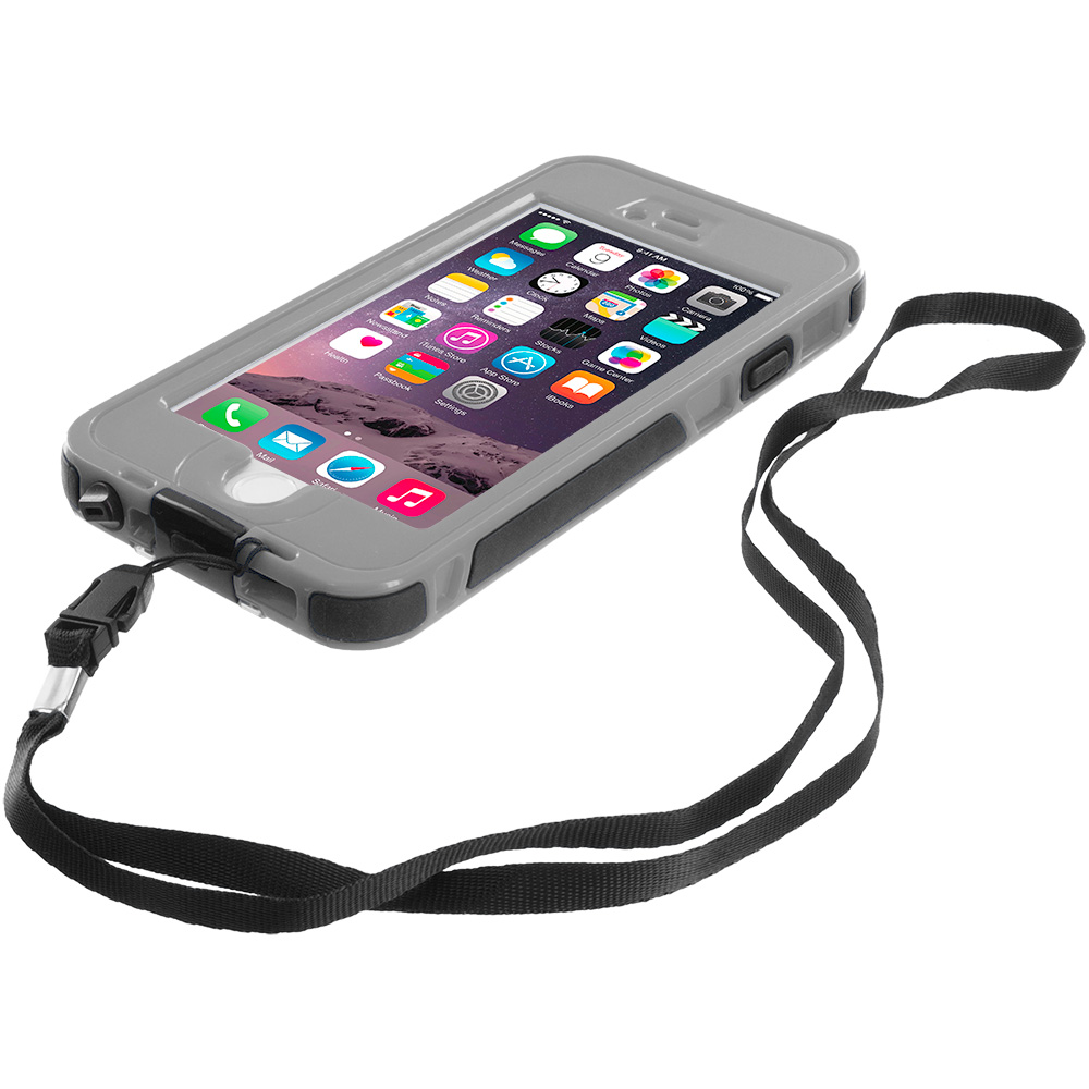 gray waterproof shockproof dirtproof hard full protection case cover for apple iphone 6 6s 4 7. Black Bedroom Furniture Sets. Home Design Ideas