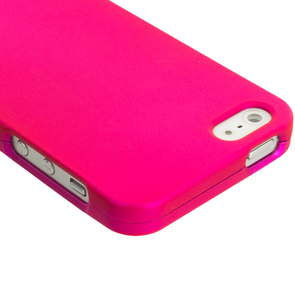 front 5mp snapper flexishield skin for iphone 5s 5 pink