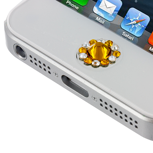 orange diamond menu home button cover protector for iphone
