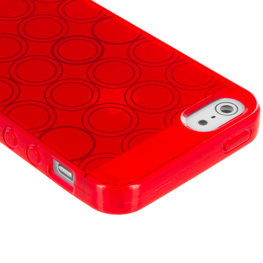 color circles tpu rubber jelly skin cover for iphone